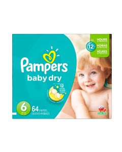 Pampers Baby Dry Super Pack S6 Talla XXG 64 Unidades